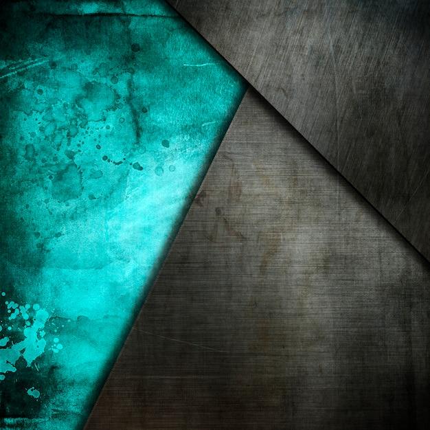 Grunge metalowych talerzy na starym tle akwarela Darmowe Zdjęcia