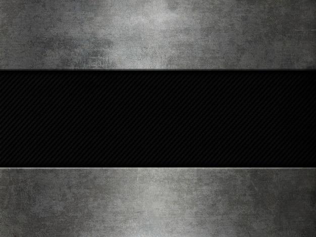 Grunge metalu i węgla włókna tło Darmowe Zdjęcia