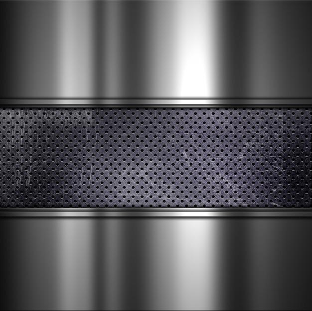 Grunge tekstury tła z perforowanej brudnego metalu i szczotkowanego aluminium Darmowe Zdjęcia