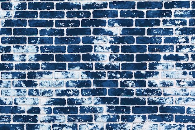 Grunge Tło Ciemny Klasyczny Błękitny ściana Z Cegieł Premium Zdjęcia