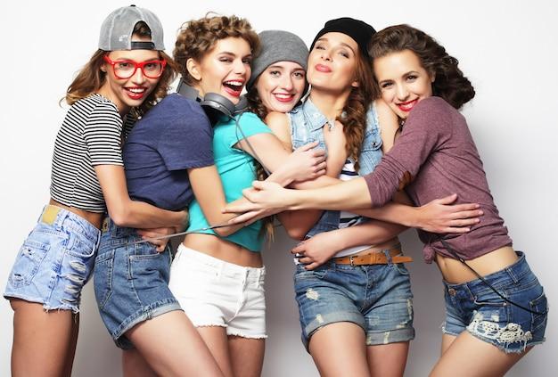 Grupa Pięciu Przyjaciółek Premium Zdjęcia