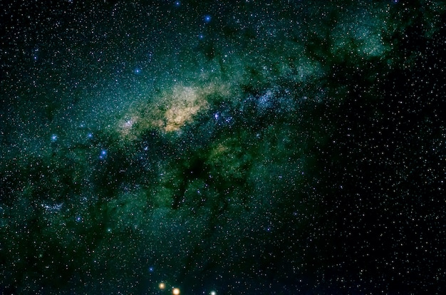 Gwiazdy I Galaktyka Kosmos Niebo Noc Wszechświat Czarna Gwiaździsta Premium Zdjęcia