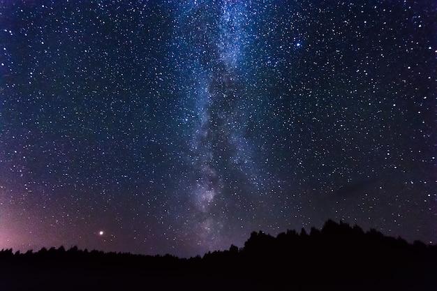 Gwiaździste niebo Premium Zdjęcia