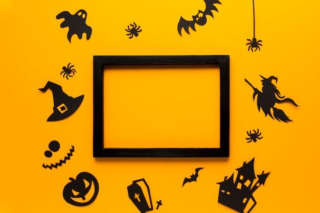 Halloween party elementy na płaska konstrukcja Darmowe Zdjęcia