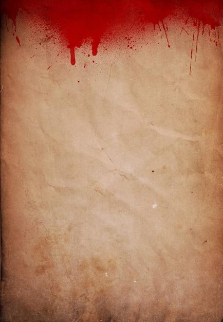 Halloween Tła Z Ikonami Krwi Na Papierze Grunge Darmowe Zdjęcia