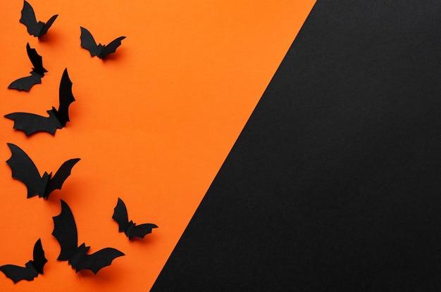 Halloweenowy Tło Z Nietoperzami Premium Zdjęcia