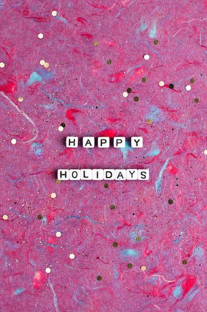 Happy Holidays Koraliki Słowo Typografia Darmowe Zdjęcia