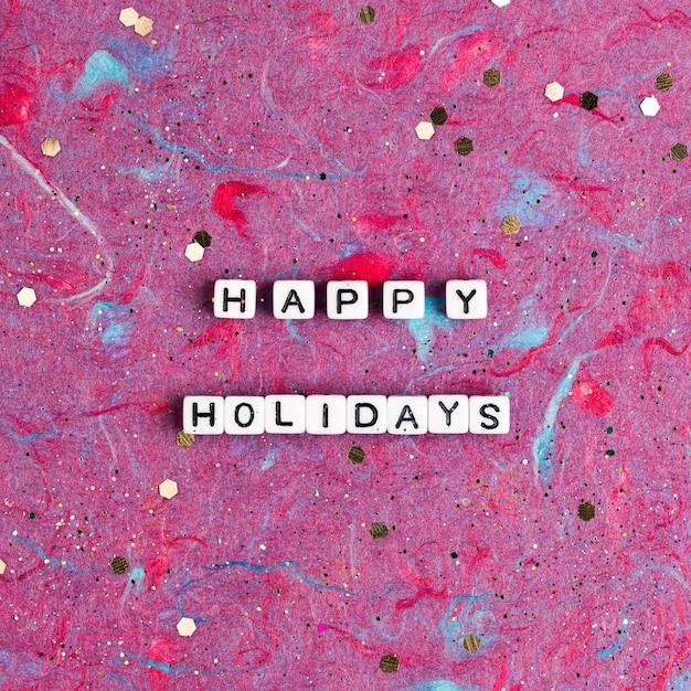 Happy Holidays Koraliki Tekst Typografia Darmowe Zdjęcia