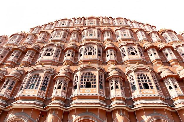 Hawa Mahal Pałac W Jaipur Rajasthan India Odizolowywającym W Białym Tle. Premium Zdjęcia