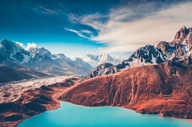 Himalaje. Widok Z Gokyo Ri Premium Zdjęcia