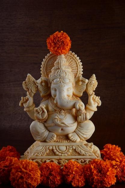 Hinduski Bóg Ganesha. Ganesha Idol Premium Zdjęcia