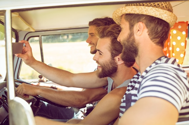 Hipster Przyjaciół Na Podróż Premium Zdjęcia