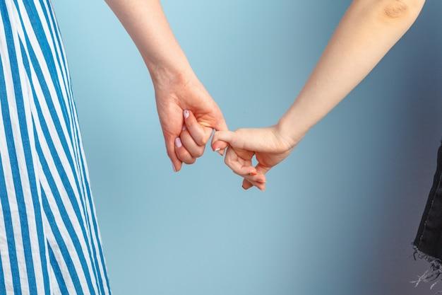 Homoseksualna Miłość I Małżeństwo. Szczęśliwa Para Lesbijek Się Blisko Premium Zdjęcia