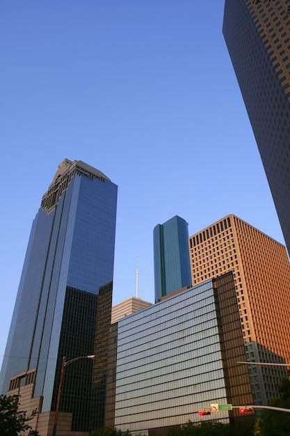 Houston śródmieścia Miasta Miastowy Budynki Premium Zdjęcia