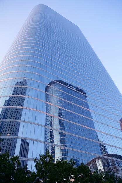 Houston Teksas Budynków Drapacza Chmur Błękitny Miasto Premium Zdjęcia