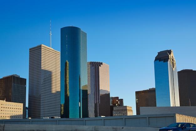 Houston W Centrum Linia Horyzontu Teksas Miasto W Usa Premium Zdjęcia