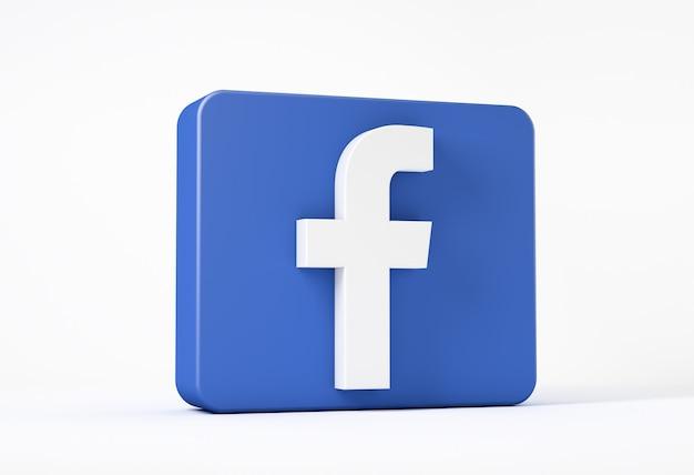 Ikona Facebook Na Białym Tle W Kwadracie Premium Zdjęcia