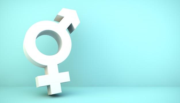 Ikona Płci Premium Zdjęcia