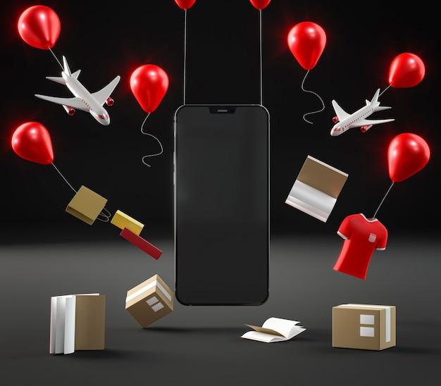 Ikona Smartfona Do Sprzedaży W Czarny Piątek Darmowe Zdjęcia