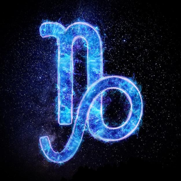 Ikona Znak Zodiaku Koziorożec, Znaki Horoskopu Premium Zdjęcia