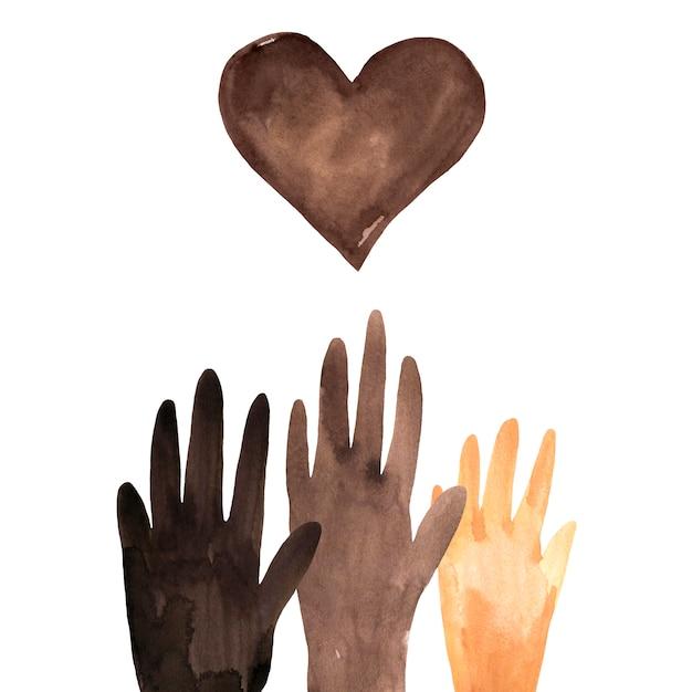 Ilustracja Czarny Lives Matter Premium Zdjęcia