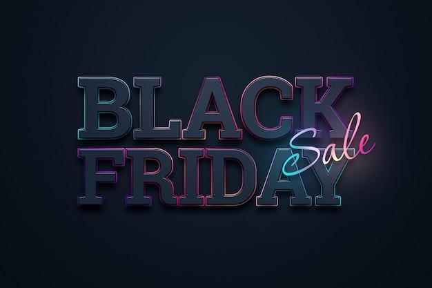 Ilustracja napis sprzedaż czarny piątek Premium Zdjęcia