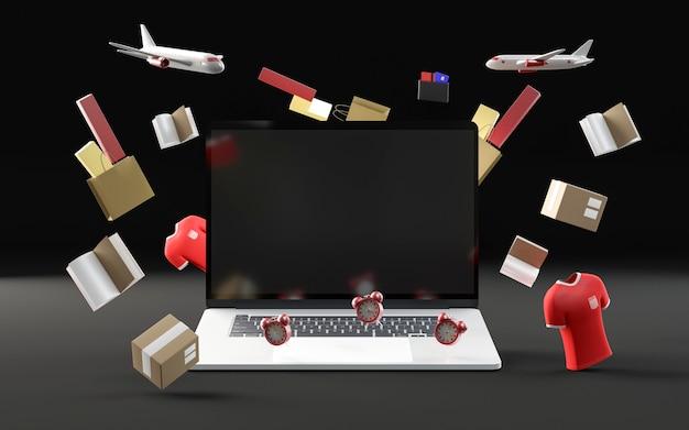 Impreza Zakupowa Z Laptopem Darmowe Zdjęcia