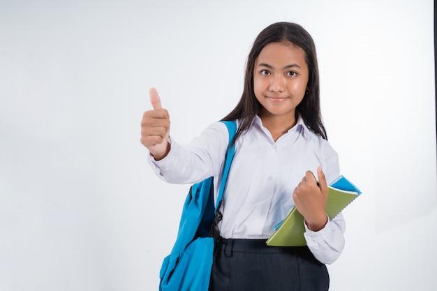 Indonezyjski Uczeń Gimnazjum Premium Zdjęcia