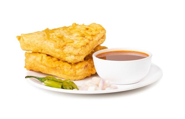 Indyjski popularny czas na herbatę przekąska chleb pakora Premium Zdjęcia