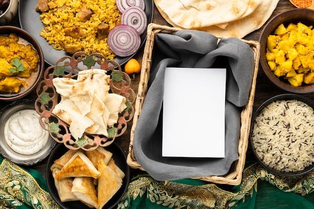 Indyjski Posiłek Z Pitą I Ryżem Darmowe Zdjęcia