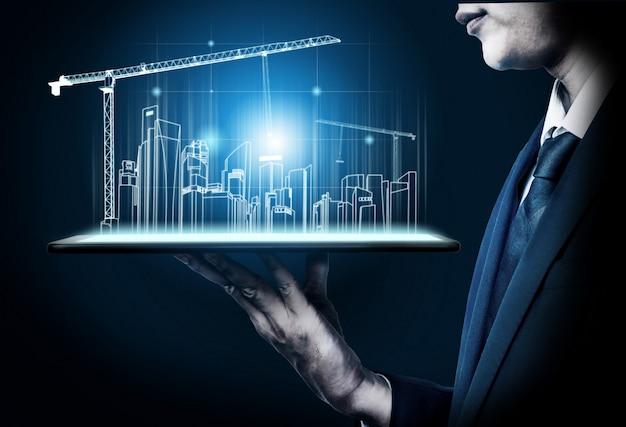 Innowacyjna Architektura I Inżynieria Budynków. Premium Zdjęcia