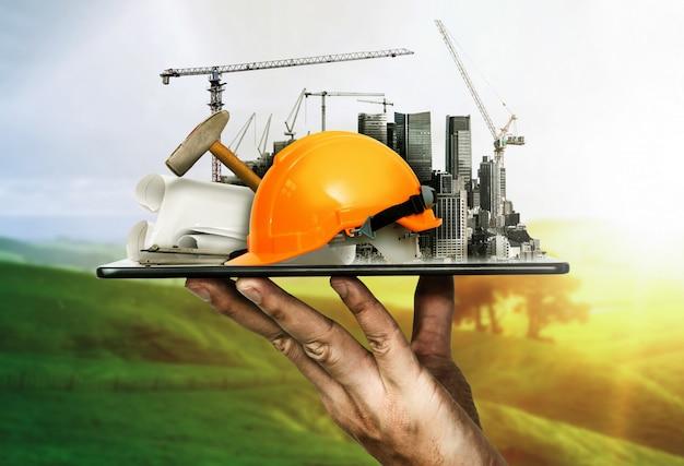 Innowacyjna Architektura I Plan Inżynierii Lądowej Premium Zdjęcia