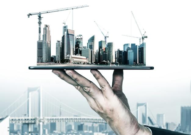 Innowacyjny Projekt Architektoniczno-budowlany. Premium Zdjęcia