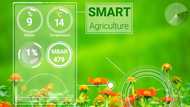 Inteligentna Technologia Cyfrowego Rolnictwa Dzięki Futurystycznemu Gromadzeniu Danych Z Czujników Premium Zdjęcia