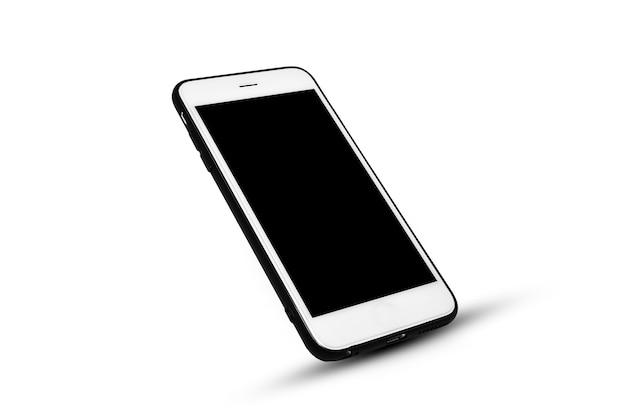 Inteligentny Telefon Komórkowy Na Białej Izolacji Premium Zdjęcia