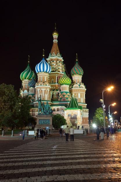 Intercesi katedra przy moskwa w nocy, rosja Darmowe Zdjęcia