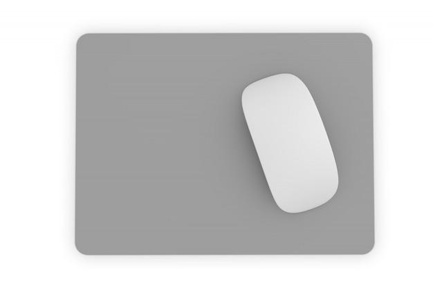 Izolowana Kwadratowa Podkładka Pod Mysz Premium Zdjęcia