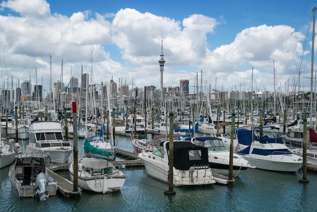 Jacht Przy Schronieniem W Auckland, Nowa Zelandia Premium Zdjęcia