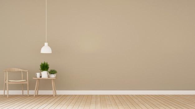 Jadalnia w kawiarni lub domu - renderowanie 3d Premium Zdjęcia