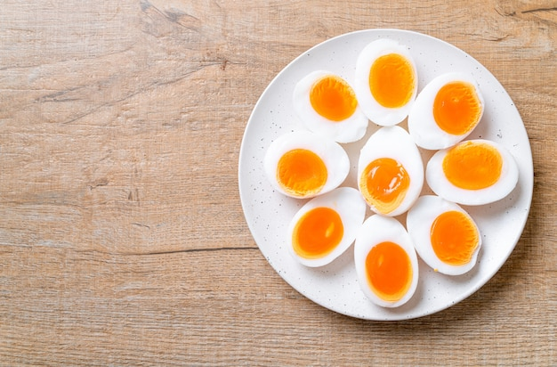 Jajka Na Miękko Premium Zdjęcia