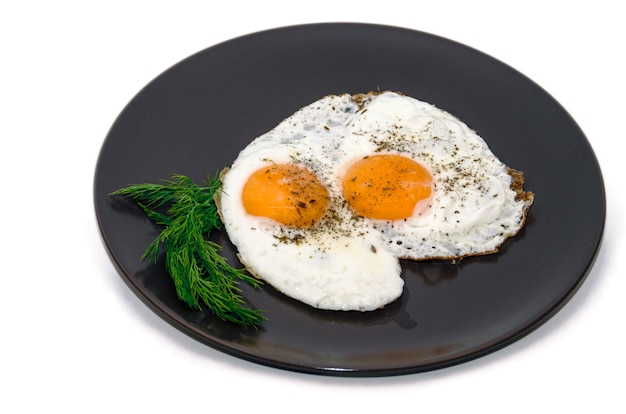Jajka Sadzone Na Talerzu Premium Zdjęcia