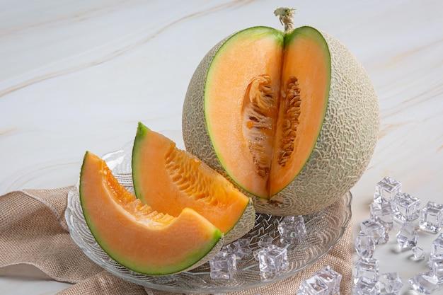 Japoński Melon Lub Kantalup, Kantalup, Sezonowa Owoc, Zdrowia Pojęcie. Darmowe Zdjęcia