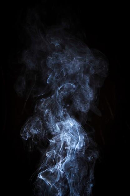Jasnobiały Dym Na Czarnym Tle Darmowe Zdjęcia