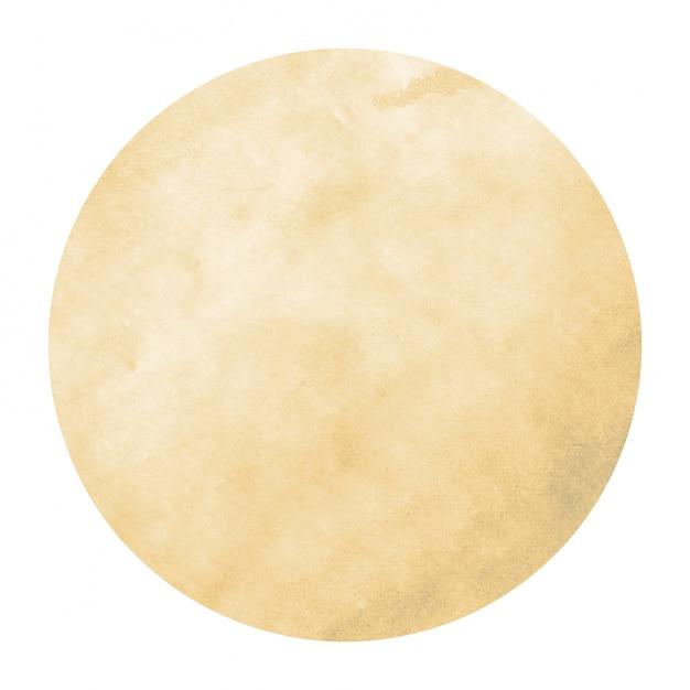 Jasnopomarańczowa ręka tekstura tło akwarela okrągłe ramki z plamami Premium Zdjęcia