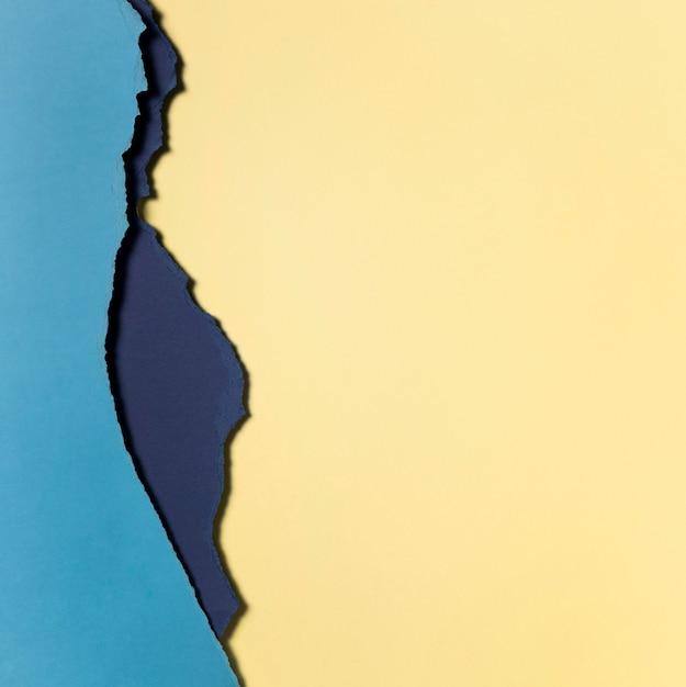 Jasnożółte I Niebieskie Warstwy Papieru Darmowe Zdjęcia
