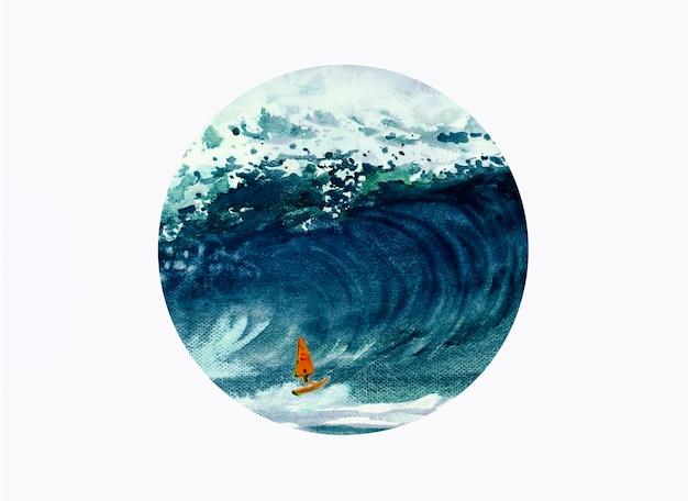 Jeden Windsurfer Sportowiec Premium Zdjęcia