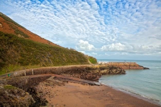 Jersey przybrzeżny krajobraz hdr Darmowe Zdjęcia