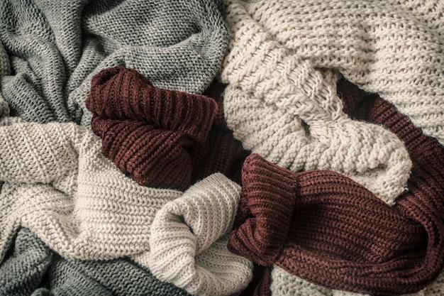 Jesień Tło Z Przytulnymi Swetrami Darmowe Zdjęcia