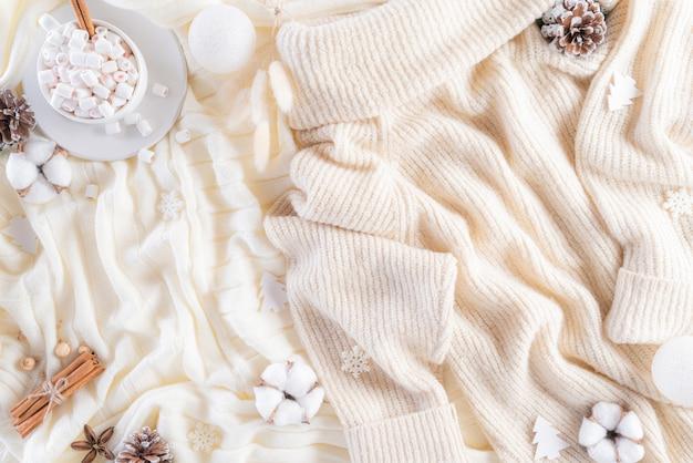 Jesieni Lub Zimy Składu Tło. Premium Zdjęcia