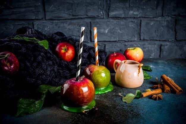 Jesienne karmelizowane jabłka Premium Zdjęcia
